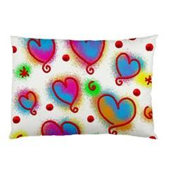 Love Hearts Shapes Doodle Art Pillow Case
