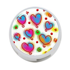 Love Hearts Shapes Doodle Art 4-Port USB Hub (Two Sides)