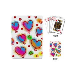 Love Hearts Shapes Doodle Art Playing Cards (mini)