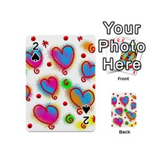Love Hearts Shapes Doodle Art Playing Cards 54 (Mini)