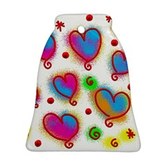 Love Hearts Shapes Doodle Art Bell Ornament (Two Sides)