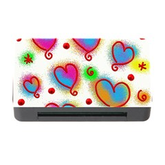 Love Hearts Shapes Doodle Art Memory Card Reader With Cf