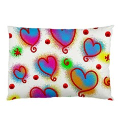 Love Hearts Shapes Doodle Art Pillow Case (Two Sides)