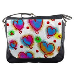 Love Hearts Shapes Doodle Art Messenger Bags