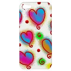 Love Hearts Shapes Doodle Art Apple iPhone 5 Hardshell Case