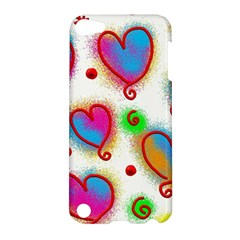 Love Hearts Shapes Doodle Art Apple iPod Touch 5 Hardshell Case