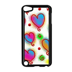 Love Hearts Shapes Doodle Art Apple Ipod Touch 5 Case (black)