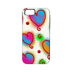 Love Hearts Shapes Doodle Art Apple Iphone 5 Classic Hardshell Case (pc+silicone)