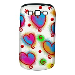 Love Hearts Shapes Doodle Art Samsung Galaxy S III Classic Hardshell Case (PC+Silicone)