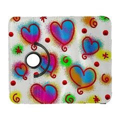 Love Hearts Shapes Doodle Art Galaxy S3 (Flip/Folio)