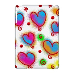 Love Hearts Shapes Doodle Art Apple Ipad Mini Hardshell Case (compatible With Smart Cover)