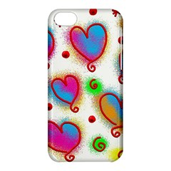 Love Hearts Shapes Doodle Art Apple Iphone 5c Hardshell Case