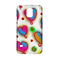 Love Hearts Shapes Doodle Art Samsung Galaxy S5 Hardshell Case