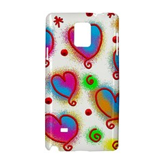 Love Hearts Shapes Doodle Art Samsung Galaxy Note 4 Hardshell Case