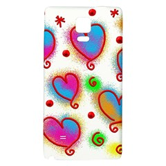 Love Hearts Shapes Doodle Art Galaxy Note 4 Back Case