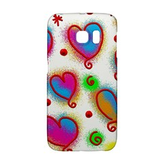 Love Hearts Shapes Doodle Art Galaxy S6 Edge