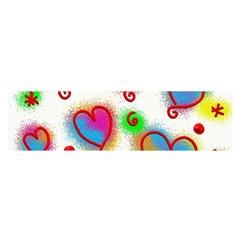 Love Hearts Shapes Doodle Art Satin Scarf (Oblong)