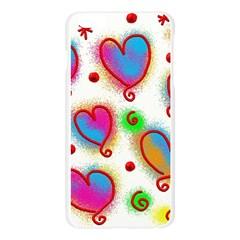 Love Hearts Shapes Doodle Art Apple Seamless iPhone 6 Plus/6S Plus Case (Transparent)