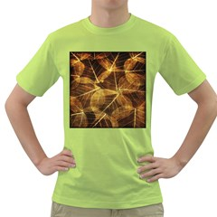 Leaves Autumn Texture Brown Green T-Shirt