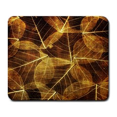 Leaves Autumn Texture Brown Large Mousepads