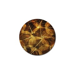 Leaves Autumn Texture Brown Golf Ball Marker
