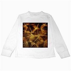Leaves Autumn Texture Brown Kids Long Sleeve T-Shirts