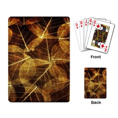 Leaves Autumn Texture Brown Playing Card