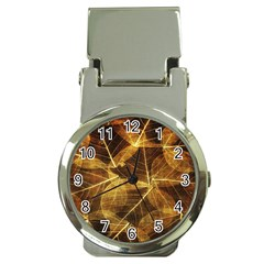 Leaves Autumn Texture Brown Money Clip Watches