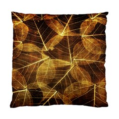 Leaves Autumn Texture Brown Standard Cushion Case (One Side)