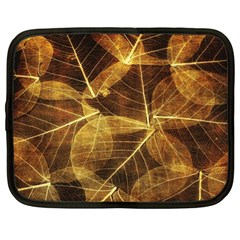 Leaves Autumn Texture Brown Netbook Case (XXL)