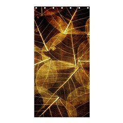 Leaves Autumn Texture Brown Shower Curtain 36  X 72  (stall)