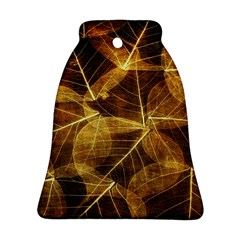 Leaves Autumn Texture Brown Bell Ornament (Two Sides)