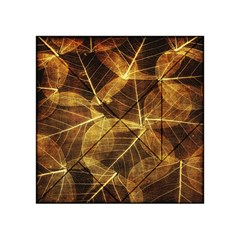 Leaves Autumn Texture Brown Acrylic Tangram Puzzle (4  x 4 )