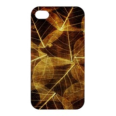 Leaves Autumn Texture Brown Apple Iphone 4/4s Premium Hardshell Case