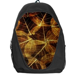 Leaves Autumn Texture Brown Backpack Bag
