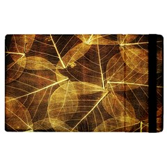 Leaves Autumn Texture Brown Apple Ipad 3/4 Flip Case