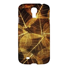 Leaves Autumn Texture Brown Samsung Galaxy S4 I9500/i9505 Hardshell Case