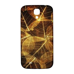 Leaves Autumn Texture Brown Samsung Galaxy S4 I9500/i9505  Hardshell Back Case