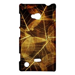 Leaves Autumn Texture Brown Nokia Lumia 720