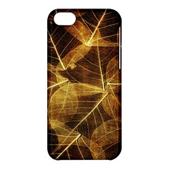 Leaves Autumn Texture Brown Apple Iphone 5c Hardshell Case