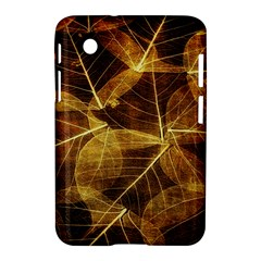 Leaves Autumn Texture Brown Samsung Galaxy Tab 2 (7 ) P3100 Hardshell Case