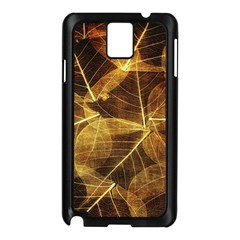 Leaves Autumn Texture Brown Samsung Galaxy Note 3 N9005 Case (Black)