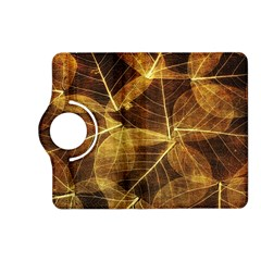 Leaves Autumn Texture Brown Kindle Fire Hd (2013) Flip 360 Case