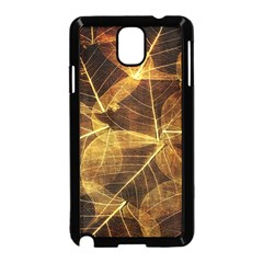 Leaves Autumn Texture Brown Samsung Galaxy Note 3 Neo Hardshell Case (Black)