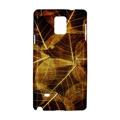 Leaves Autumn Texture Brown Samsung Galaxy Note 4 Hardshell Case
