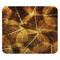 Leaves Autumn Texture Brown Double Sided Flano Blanket (small)