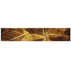 Leaves Autumn Texture Brown Flano Scarf (large)