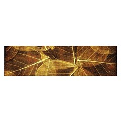 Leaves Autumn Texture Brown Satin Scarf (Oblong)