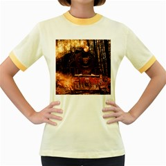 Locomotive Women s Fitted Ringer T-Shirts