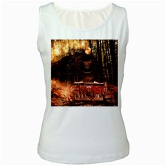 Locomotive Women s White Tank Top